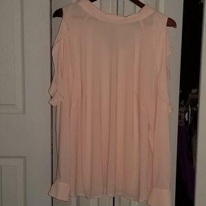 Eloquii cold shoulder ruffle blouse